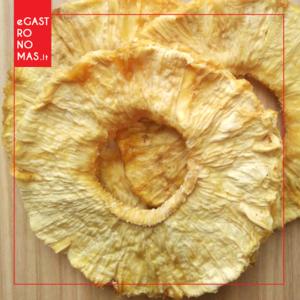 Džiovinti ananasų žiedai be priedų, 100 g.