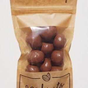 Liofilizuotos braškės pieniškame šokolade, 125g