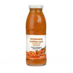 Šaltalankių saldinta tyrė su probiotikais, 300 ml